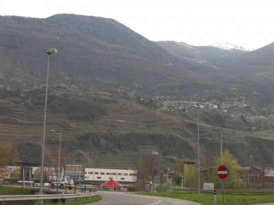 グルメッロの畑の遠景